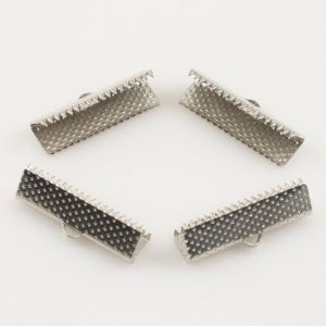 Jewellery Clippers, High quality metal alloy, Metal colour, 22mm x 7mm x 6mm, 12  pieces, (LJP259)